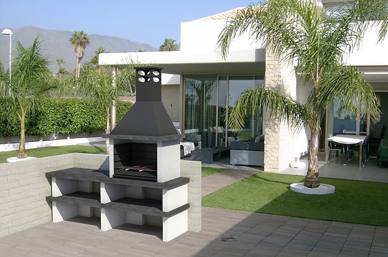 Barbecue mixte un banc top barbecues barbecues charbon - Casa del barbecue ...