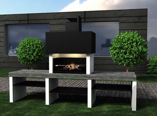 Design barbecue (two trays)