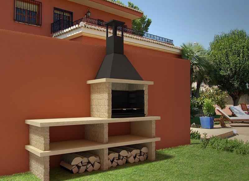 Barbacoa pirineos top barbecues barbacoas prefabricadas - Barbacoa de diseno ...
